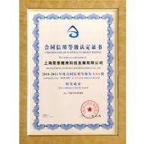 2012合同守信用等级AAA企业