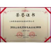 2018上海民营制造业企业100强第47名