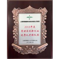 2018年度青浦区创新创业优秀人才团队奖